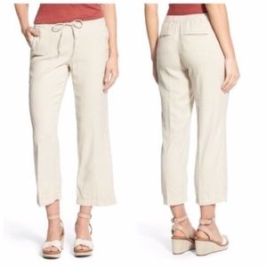 NYDJ Jamie Linen Blend Relaxed Ankle Flared Pants